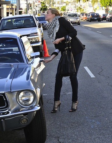 Amber Heard '68 Ford Mustang