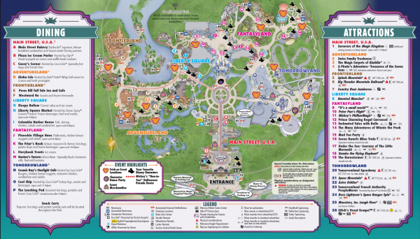 Map for 2015 Mickey's Not So Scary Halloween Party