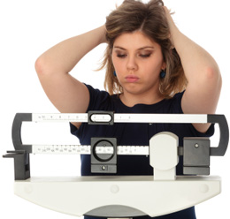 Woman Concerned About Her Weight