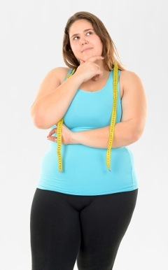 Woman Pondering Weight Loss