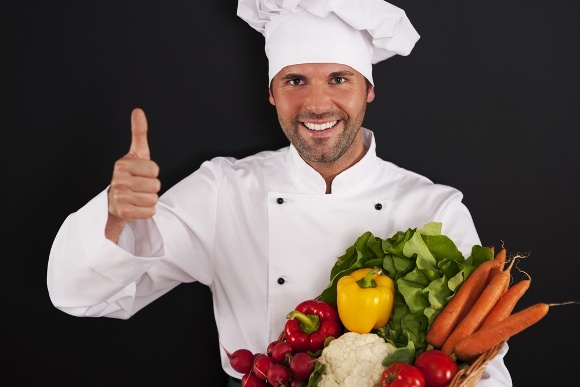 Chef Thumbs Up Veggies