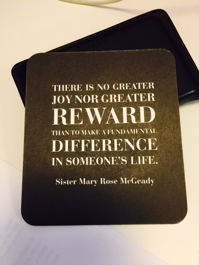 There is no greater joy than nor greater reward than to make a fundamental difference in someone's life