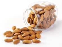 Tipped Jar of Almonds