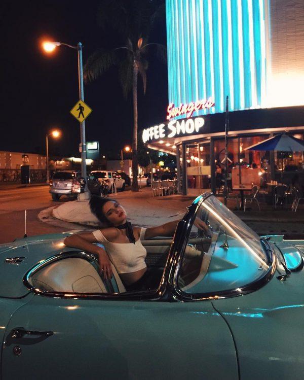Kendall Jenner Corvette