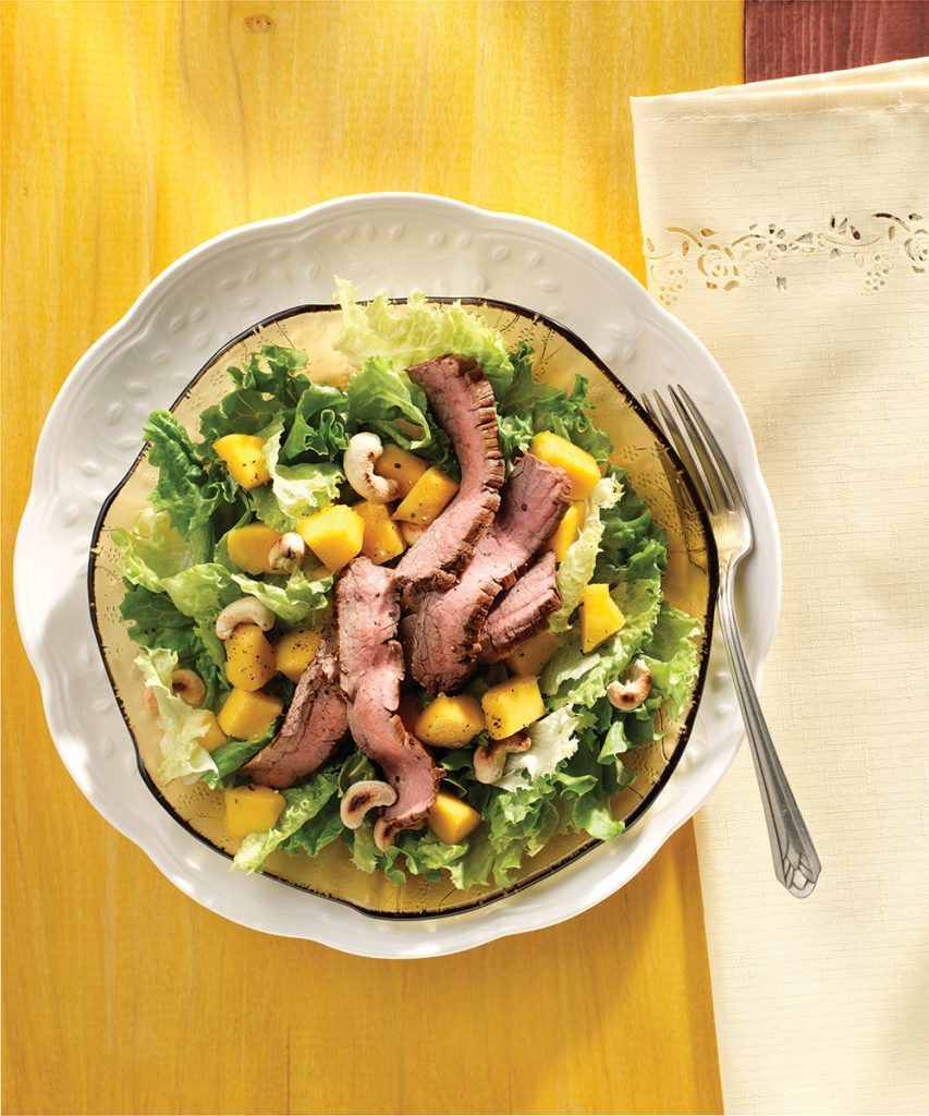 Asian Beef and Mango Salad
