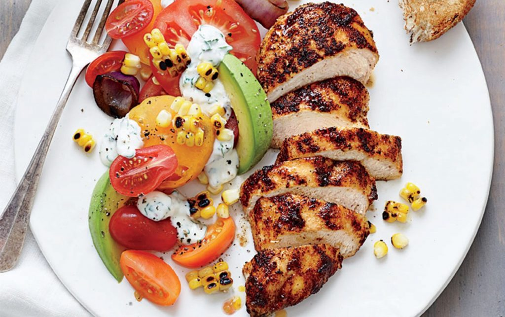 Grilled-Chicken-Avocado-Tomato-Salad
