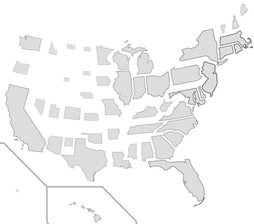 What does the US population density looks like?