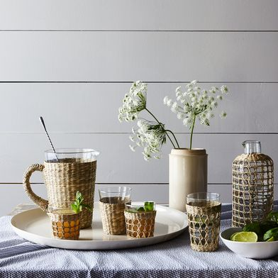 Seagrass Tapered Pitcher & Tumblers