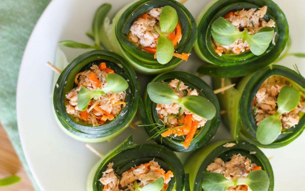 Salmon-Cucumber-Rolls