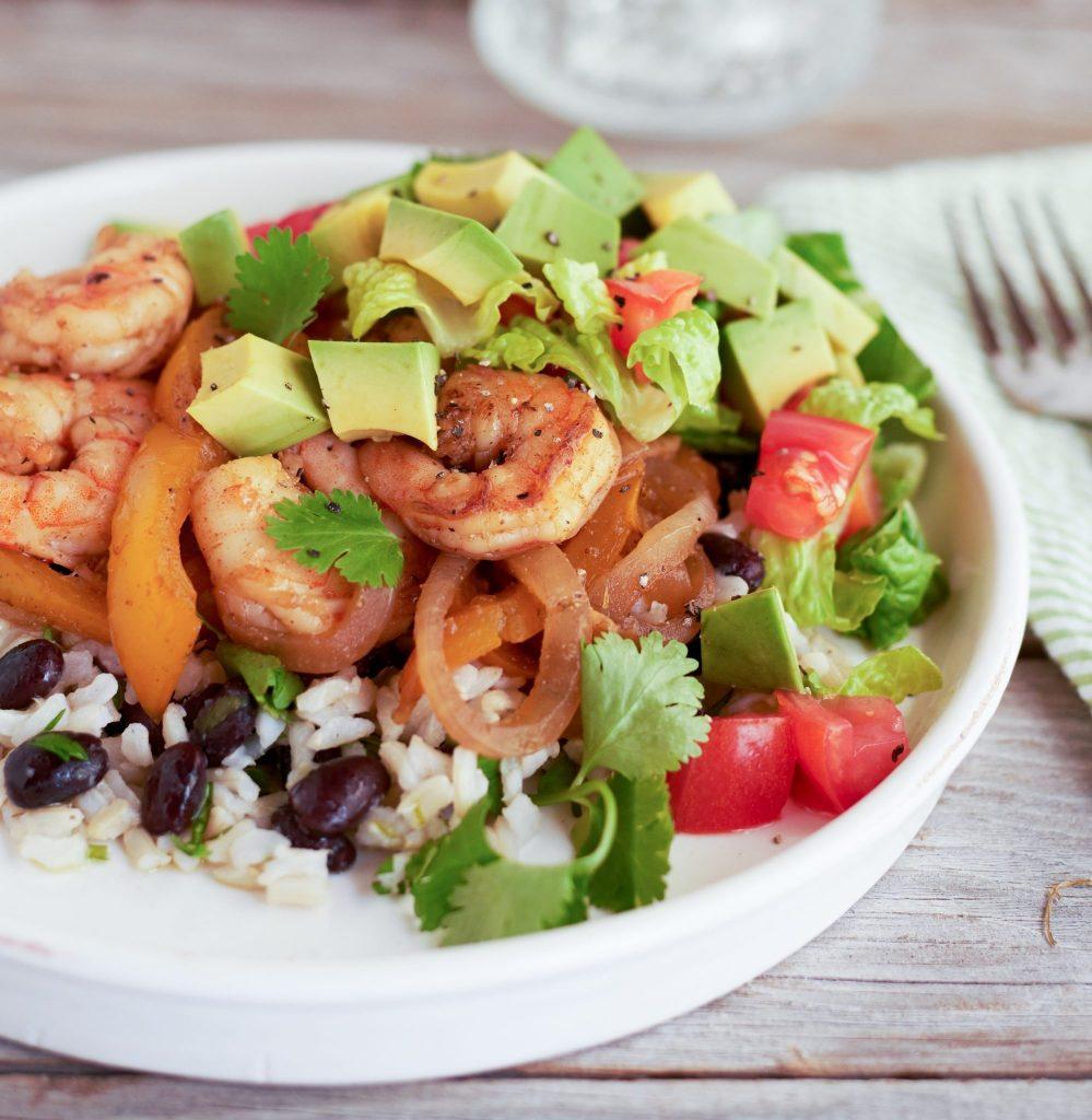 High-Protein Shrimp Burrito Bowl