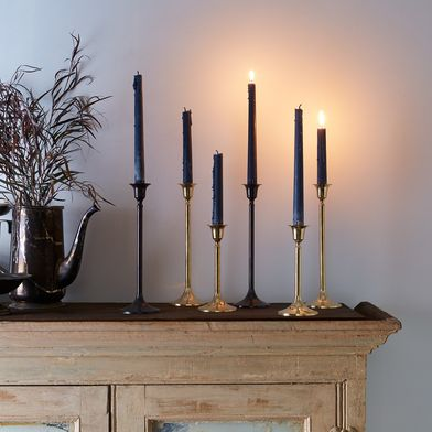 Food52 Vintage-Inspired Brass Candlesticks (Set of 2)