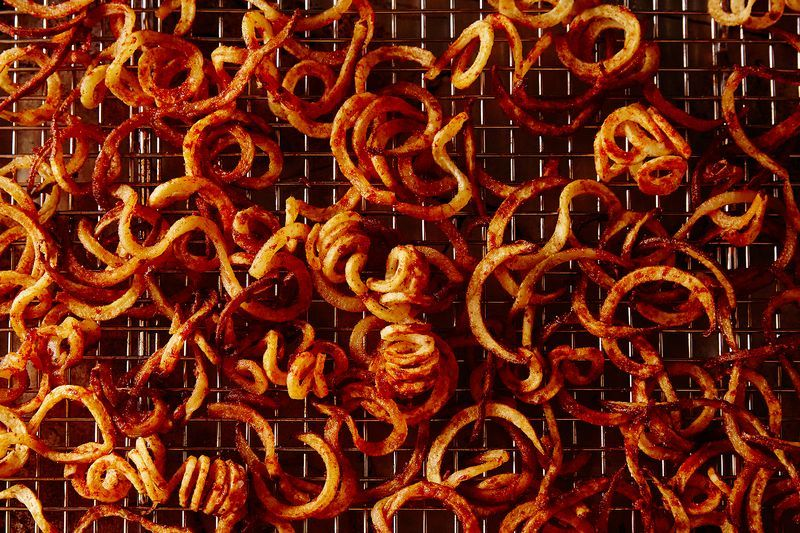 Were these curly fries worth the lingering smell? (Yes!)