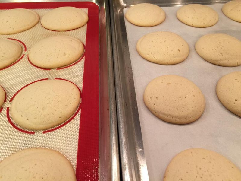 Lofthouse-style cookies are significantly loftier when baked on parchment.