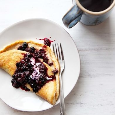 Sweet Omelet with Berries