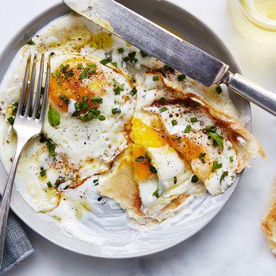 Julia Turshen's Olive Oil-Fried Eggs with Yogurt & Lemon
