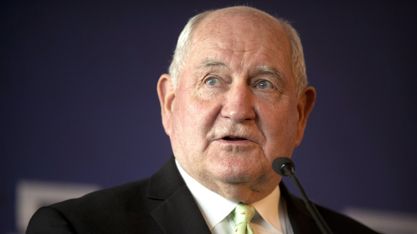 Secretary of Agriculture Sonny Perdue speaks at an event to on June 30, 2017.