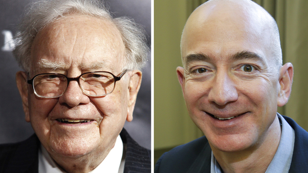 """Berkshire Hathaway Chairman and CEO Warren Buffett (left) in 2017; Jeff Bezos, CEO of Amazon, in 2013; and JP Morgan Chase Chairman and CEO Jamie Dimon in 2013. Berkshire Hathaway, Amazon and JPMorgan Chase are teaming up to create a health care company announced Tuesday that is """"free from profit-making incentives and constraints."""""""