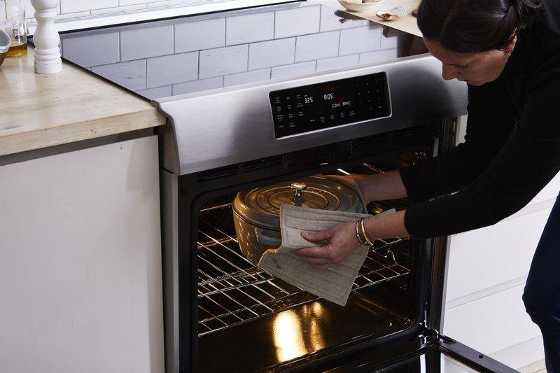 A convection oven cuts down on cooking time and helps cook more evenly.