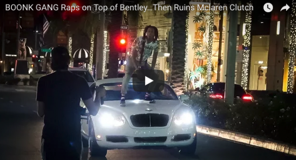 Boonk Gang Rapping on Bentley