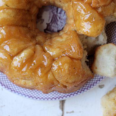 Gruyere Rosemary and Honey Monkey Bread