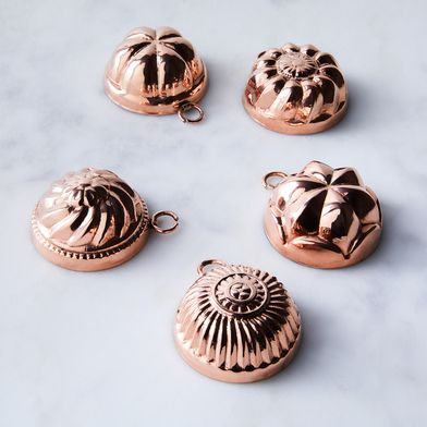 Vintage Copper French Chocolate Moulds, Late 19th Century (Set of 5)