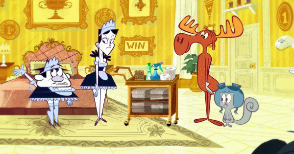 adventures of rocky and bullwinkle, tv show, reboot, cartoon, season 1, review, dreamworks animation, amazon video