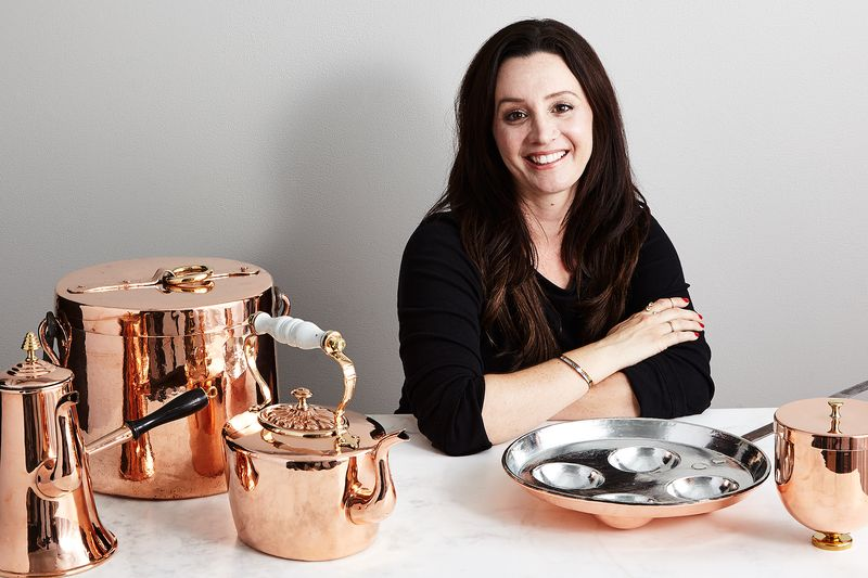 Beth Sweeney with some of her stunning copper wares.