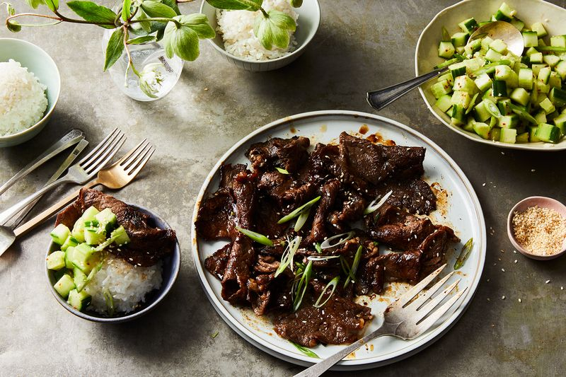 Sweet, succulent Korean bulgogi. YUM.