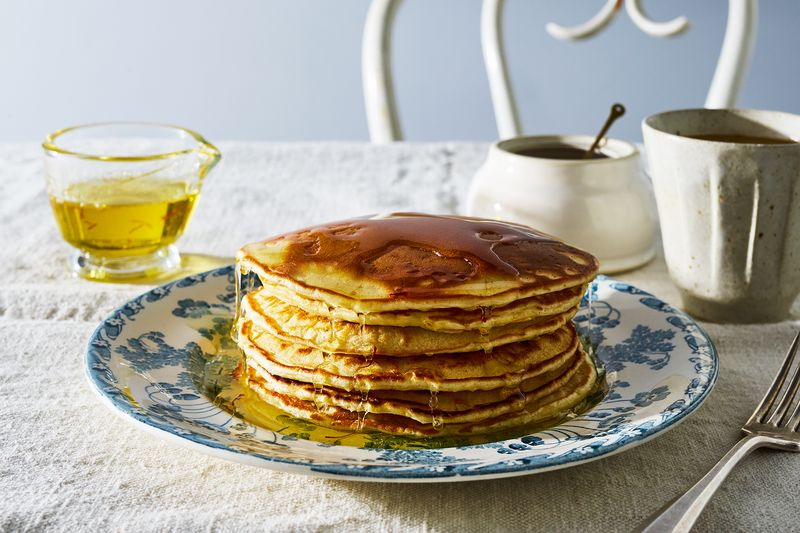 American pancakes gain nuance from saffron.