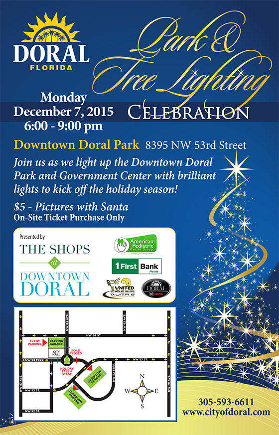 City of Doral 2015 Park & Tree Lighting Celebration