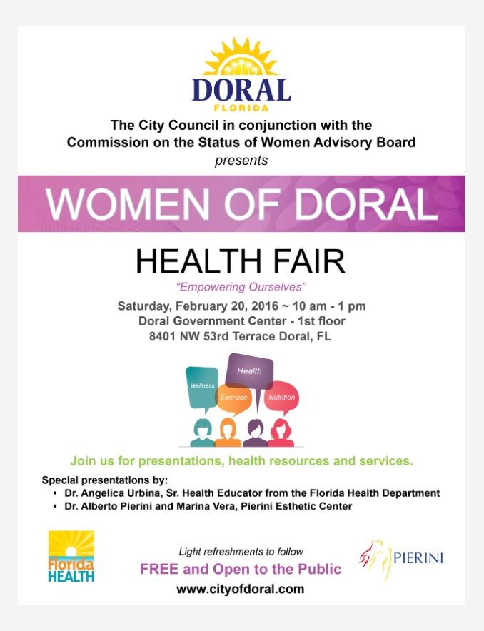 Women of Doral Health Fair